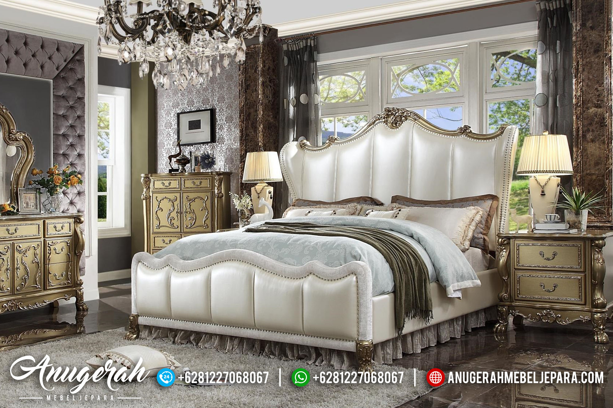 Bedroom Set Luxury Model Queen BK-435