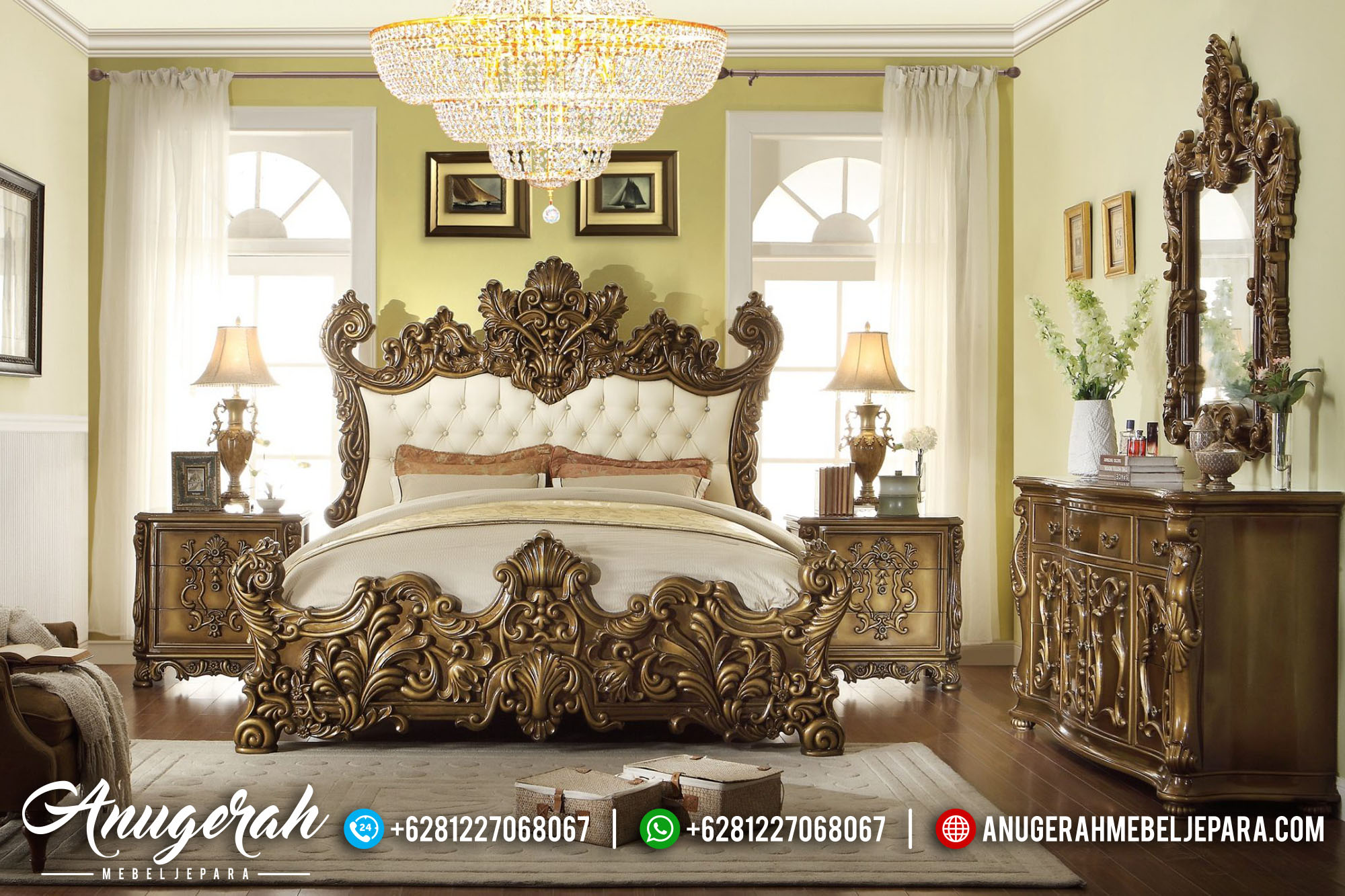 Italian Luxury Bedroom Casual Ukir BK-459