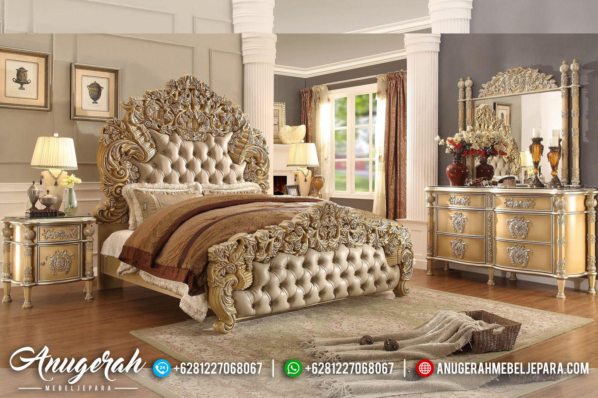 Bedroom Set Desain Victorian Casual BK-467